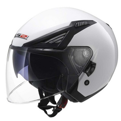 KASK LS2 OF586 BISHOP SOLID BIAŁY L