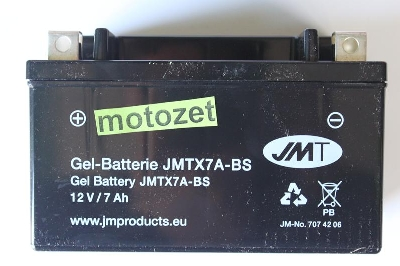 AKUMULATOR JMT YTX7A-BS ŻELOWY TO CO 1100201  1100483